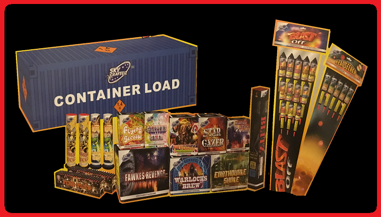 Brothers container load fireworks